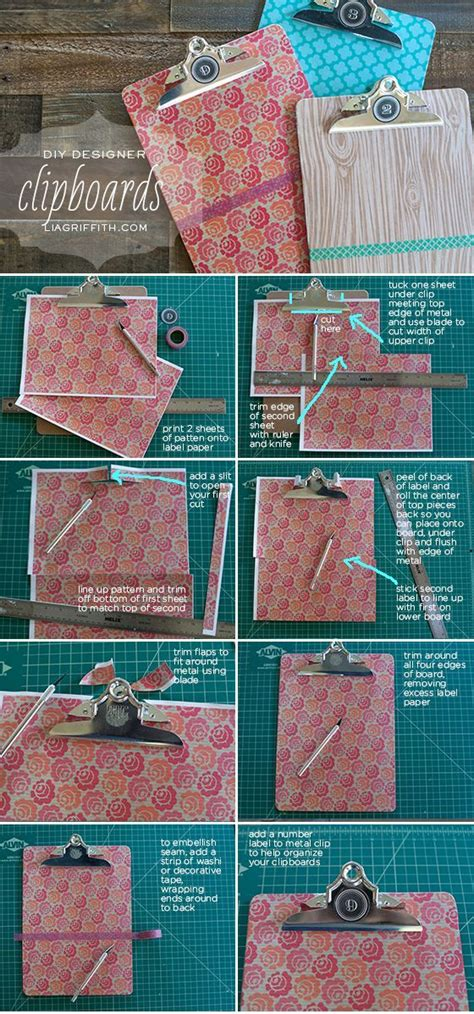 DIY Designer Clipboards Pictures, Photos, and Images for