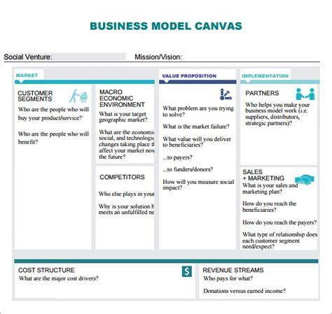 FREE 7+ Business Model Canvas Samples in PDF