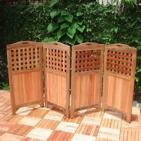 VIFAH 47-in x 102-in Natural Wood Outdoor Privacy Screen