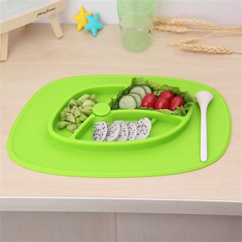 Silicone Baby Plate | Placemat Plates | Baby Food Mat