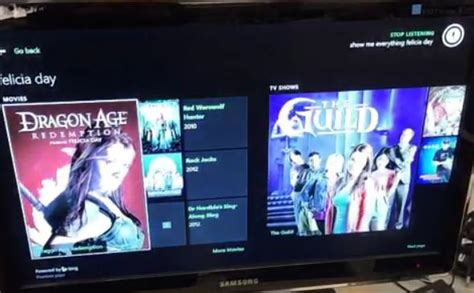 See Xbox One's Bing search in action