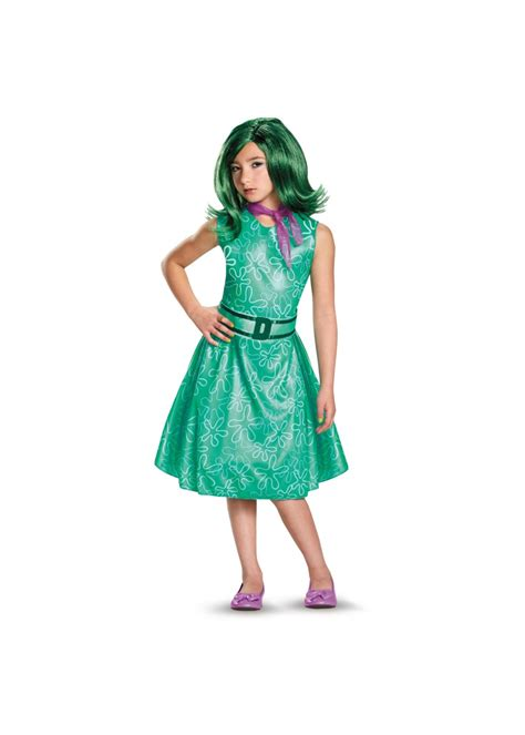 Disney Inside Out Disgust Girls Costume - Disney Costumes