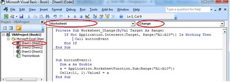 Excel VBA : Changing button click event into cell value