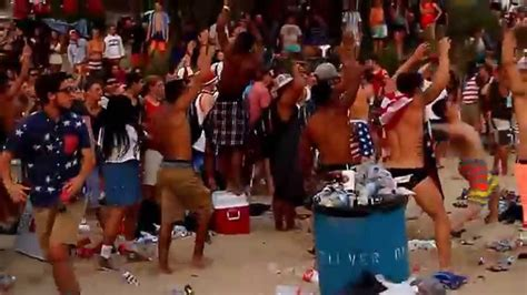 Silver Beach Almost Riot Party on 4th of July - YouTube