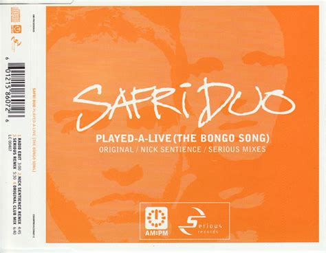Safri Duo - Played-A-Live (The Bongo Song) (2001, CD