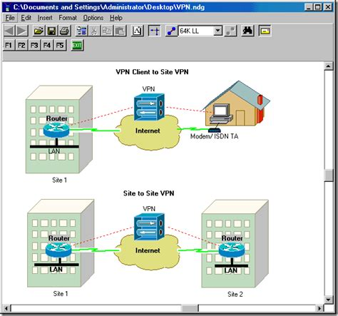 Draw Interactive Network Diagrams With Network Notepad