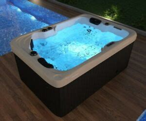 Outdoor Whirlpool with Heating LED Ozone Hot Tub Spa for 2