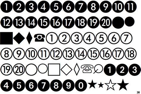 Fontscape Home > Symbols > Numbers > Numbers in circles
