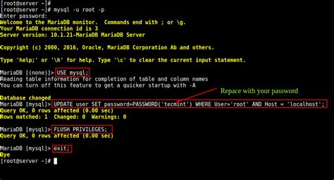 How to Change Root Password of MySQL or MariaDB in Linux