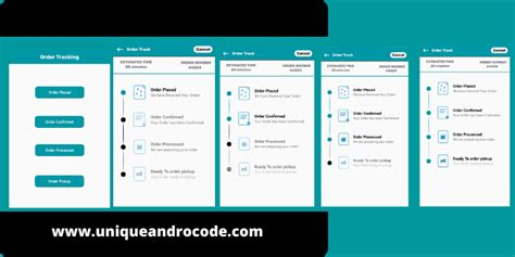Order Tracking UI Design Android - Unique Andro Code
