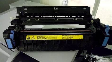 HP Printer fuser error - cleaning the fuser - howto - YouTube