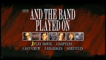 """""""And the Band Played On"""" HBO Studios - Region 1- NTSC"""