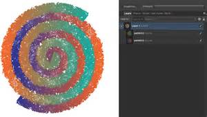 How can I create a rainbow spiral / curved gradient