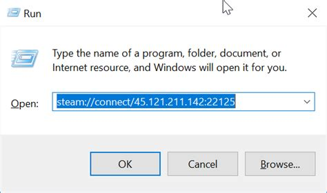 Joining a Steam server through a windows command