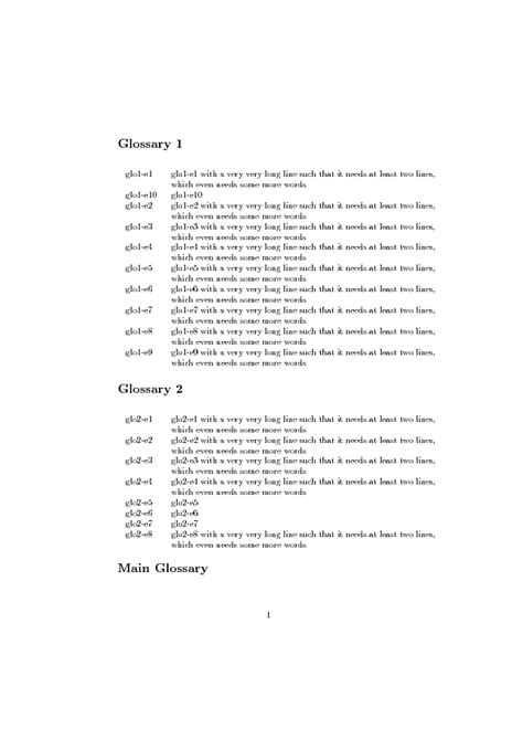 glossaries - Prevent Page Break between glossary heading