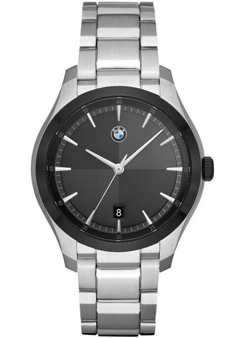 BMW 6002 Black Silver SS   Watches