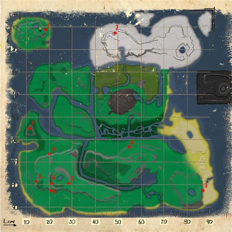 Mod:Resource Map (The Volcano) - Official ARK: Survival